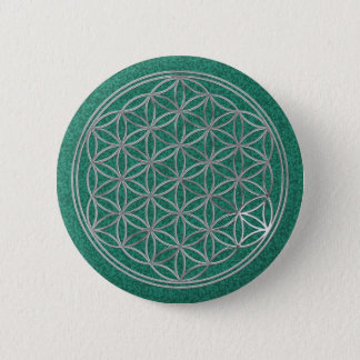 Flower Of Live / silver Button