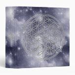 Flower Of Live / silver | dark blue universe Binder