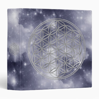 Flower Of Live / silver | dark blue universe Binder