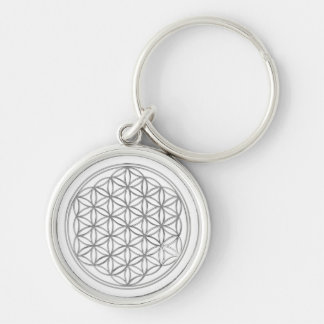 Flower Of Live / silver Keychains