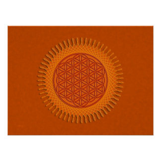 Flower Of Live / sun design Posters