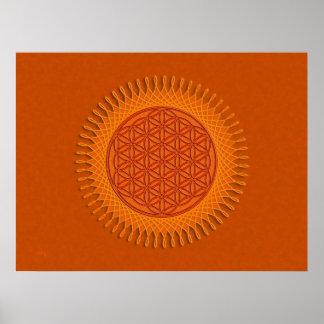 Flower Of Live / sun design Poster