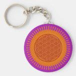 Flower Of Live / sunny design Key Chain