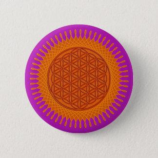 Flower Of Live / sunny design Pinback Button