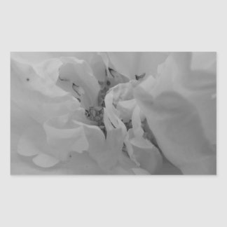Flower of Love B/W Rectangle Stickers