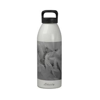 Flower of Love B/W Reusable Water Bottles