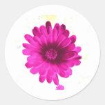 FLOWER OF LOVE CLASSIC ROUND STICKER