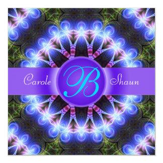 "Flower of Love Fractal Art Wedding Invitation 5.25"" Square Invitation Card"