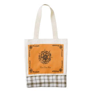 Flower Of Love (Henna) (Black) Zazzle HEART Tote Bag