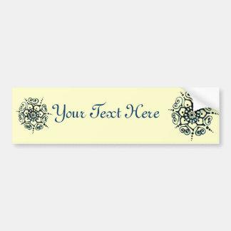Flower Of Love (Henna) (Blue) Bumper Sticker