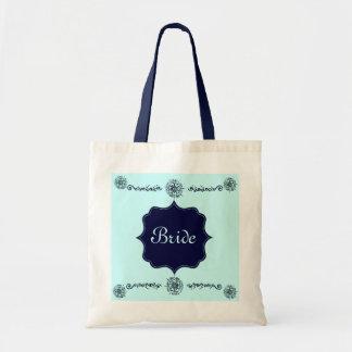 Flower Of Love (Henna) (Blue) Tote Bag