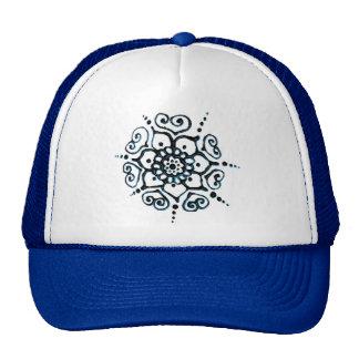 Flower Of Love (Henna) (Blue) Trucker Hat