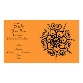 Flower Of Love (Henna) Double-Sided Standard Business Cards (Pack Of 100)