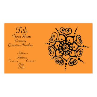 Flower Of Love (Henna) Business Card Templates