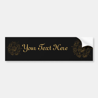 Flower Of Love (Henna) (Golden) Bumper Sticker