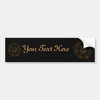 Flower Of Love (Henna) (Golden) Car Bumper Sticker