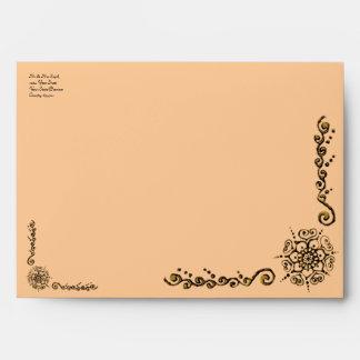 Flower Of Love (Henna) (Golden) Envelopes