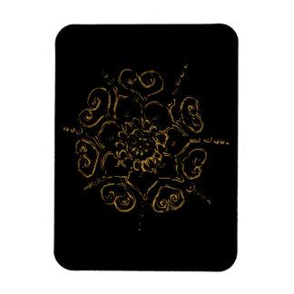 Flower Of Love (Henna) (Golden) Magnet