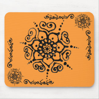 Flower Of Love (Henna) Mouse Pads