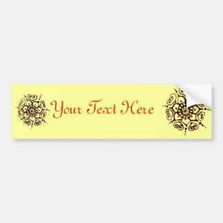 Flower Of Love (Henna) (Orange) Car Bumper Sticker