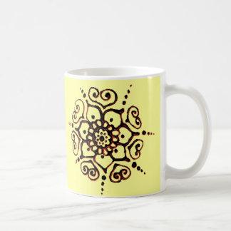 Flower Of Love (Henna) (Orange) Coffee Mug
