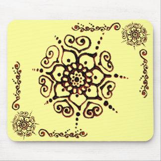 Flower Of Love (Henna) (Orange) Mousepad