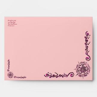 Flower Of Love (Henna) (Pink) Envelope
