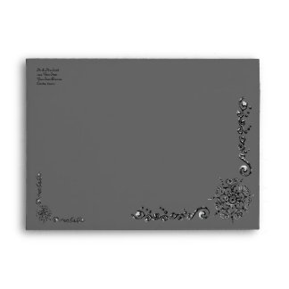 Flower Of Love (Henna) (Silver/effect) Envelope