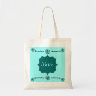Flower Of Love (Henna) (Turqoise) Canvas Bags