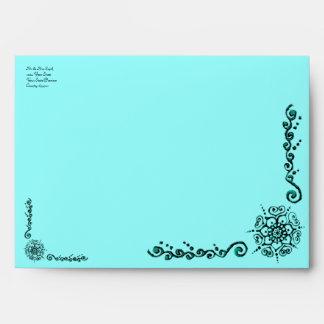 Flower Of Love (Henna) (Turqoise) Envelope