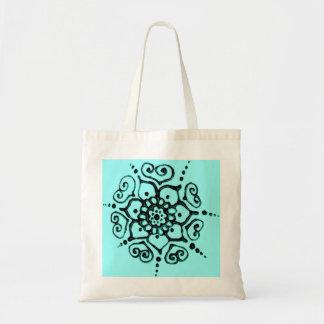 Flower Of Love (Henna) (Turqoise) Tote Bag