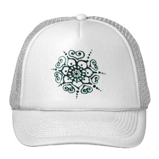 Flower Of Love (Henna) (Turqoise) Trucker Hat
