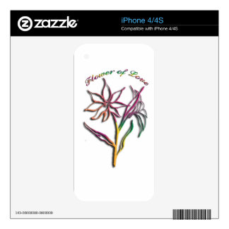 Flower of Love Skin For iPhone 4