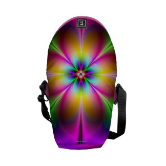 Flower of Neon Power Pink/Purple Girly 2013 Courier Bag