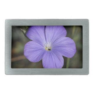 Flower of perennial or blue flax belt buckle