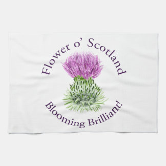 Flower of Scotland – Blooming Brilliant! Hand Towels