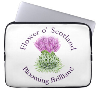 Flower of Scotland – Blooming Brilliant! Laptop Computer Sleeves