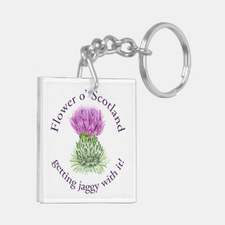 Flower of Scotland - getting jaggy with it! Double-Sided Square Acrylic Keychain