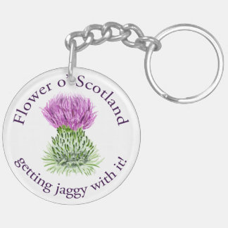 Flower of Scotland - getting jaggy with it! Keychain