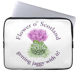 Flower of Scotland - getting jaggy with it! Computer Sleeve
