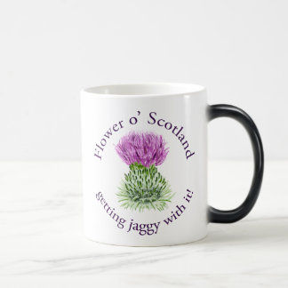 Flower of Scotland - getting jaggy with it! Magic Mug