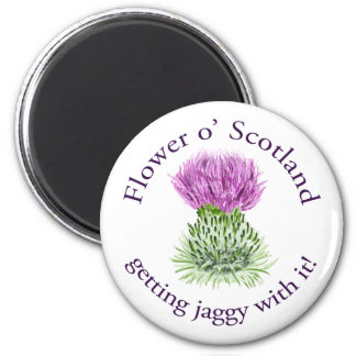 Flower of Scotland - getting jaggy with it! 2 Inch Round Magnet
