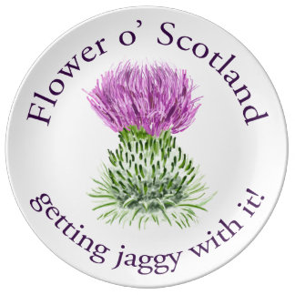 Flower of Scotland - getting jaggy with it! Porcelain Plate