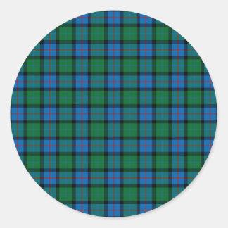 Flower Of Scotland National Tartan Classic Round Sticker
