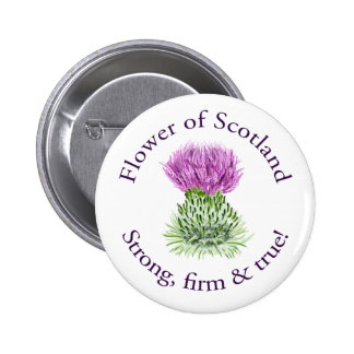Flower of Scotland Pinback Button