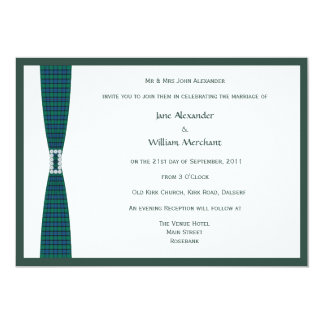 Flower of Scotland Plaid and Diamond Buckle Design Card