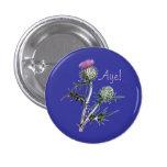 Flower of Scotland Scottish Independence Pinback 1 Inch Round Button