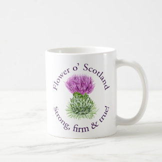 Flower of Scotland. Strong, firm and true! Classic White Coffee Mug