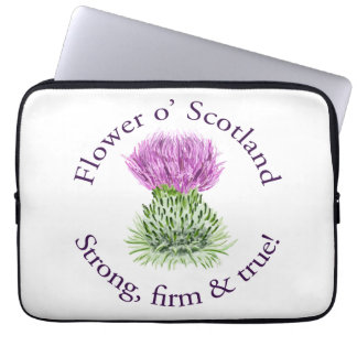 Flower of Scotland. Strong, firm and true! Laptop Sleeve