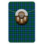 Flower Of Scotland Tartan And Sporran Rectangular Photo Magnet